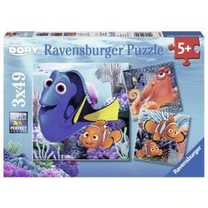 Ravensburger - 09345 - Puzzle 3x49 pièces - Dory trouvée / Le monde de Dory (306574)