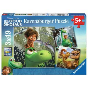 Ravensburger - 09406 - Puzzle 3 x 49 pièces - Arlo, le gentil dinosaure / Le voyage d'Arlo (306578)