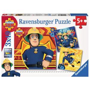 Ravensburger - 09386 - Puzzle 3x49 pièces - En danger, appelez Sam / Sam le pompier (306588)