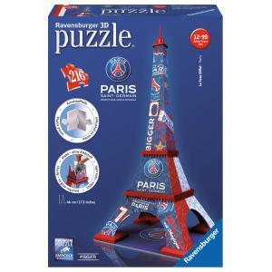 Ravensburger - 12560 - 3D puzzle Building 216 pièces - Tour Eiffel PSG (306732)