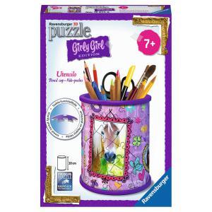 Ravensburger - 12075 - 3D Puzzle Objets 54 pièces - Pot à crayons - Girly Girl - Chevaux (306738)