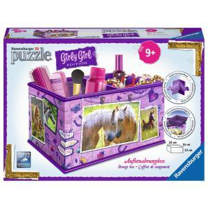 Ravensburger - 12072 - 3D Puzzle Objets 216 pièces - Boîte de rangement - Girly Girl - Chevaux (306740)