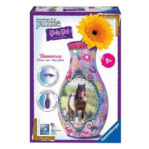 Ravensburger - 12052 - 3D Puzzle Objets 216 pièces - Vase chevaux - Girly Girl (306742)