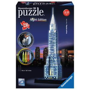 Ravensburger - 12595 - 3D puzzle Building 216 pièces - Chrysler Building - Night Edition (306968)