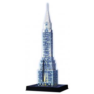 Ravensburger - 12595 - Puzzle 3D Building - Collection midi illuminée - Chrysler Building - Night Edition (306968)