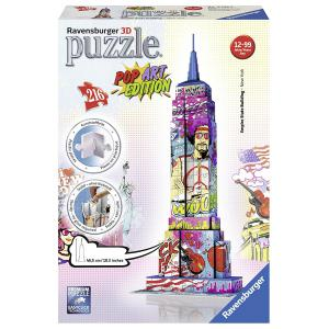 Ravensburger - 12599 - Puzzle 3D Building 216 pièces - Empire state pop art (306970)