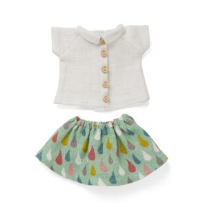 Littlephant - 1300 - Vêtements de poupée Drop skirt with white shirt (307666)