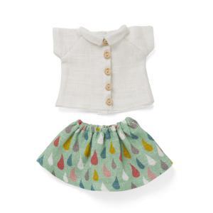 Littlephant - 1300 - Vêtements de poupée Drop skirt with white shirt (307666)