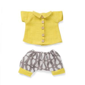 Littlephant - 1301 - Vêtements de Poupée - Grey pants with yellow shirt (307668)