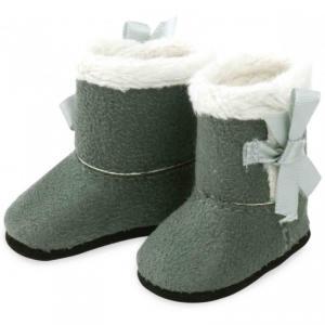 Petitcollin - 603401 - Bottes grises fourrées blanches pour poupée MINOUCHE taille 34 cm - à partir de 3+ (308010)
