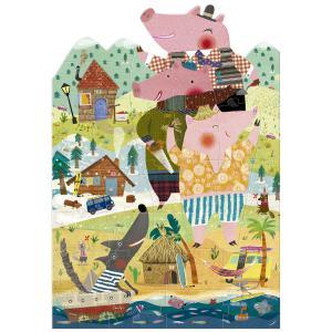 Londji - PZ339U - Puzzle - 36 pièces My 3 Little Pigs (308180)