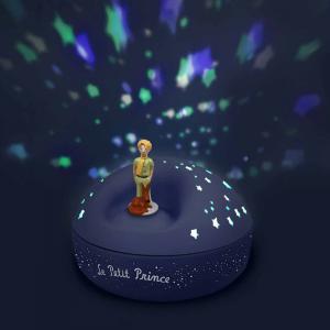 Le Petit Prince - 5030 - Veilleuse - Projecteur d'Etoiles Musical le Petit Prince© 12 Cm - Piles Inclues (308638)