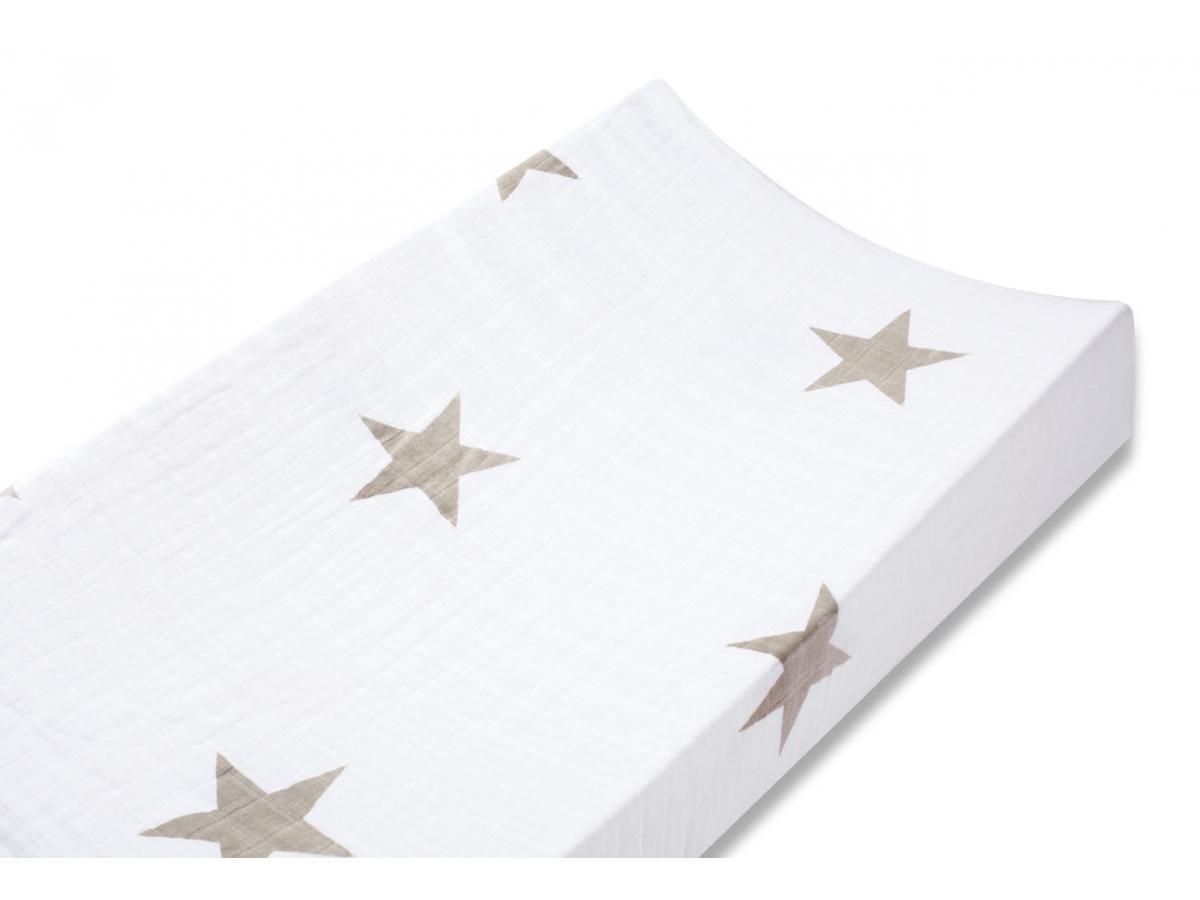 aden and anais housse de matelas a langer super star scout etoiles beiges. Black Bedroom Furniture Sets. Home Design Ideas