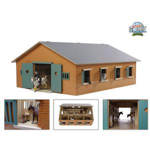 Kids Globe Farmer - 610595 - Grande écurie en bois avec 7 boxes echelle 1:24 (310412)