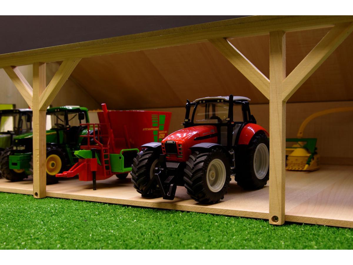 kids globe farmer hangar en bois pour tracteurs grand. Black Bedroom Furniture Sets. Home Design Ideas