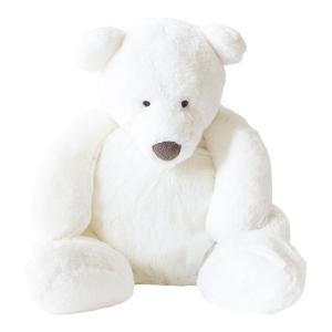 Dimpel - 860613 - Peluche ours Esteban Junior 45 cm blanc (310540)