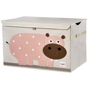 3 Sprouts - 107-001-007 - Coffre à jouets Hippo (311296)