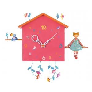 L'oiseau bateau - HOR0010 - Horloge décorative Alabonneheure La fille à l'ourson (312850)