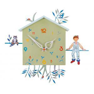 L'oiseau bateau - HOR0009 - Horloge décorative Alabonneheure Le laton-raveur (312852)