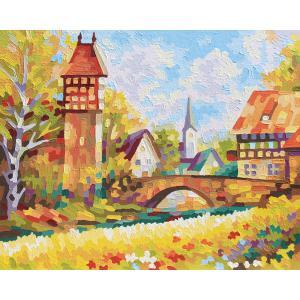 Schipper - 609430722 - Peinture aux numeros - Idylle villageoise 40 x 50 cm (312922)
