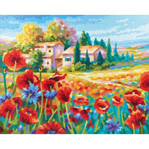 Schipper - 609430727 - Peinture aux numeros - champs de coquelicots (312924)