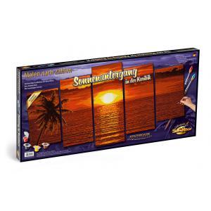 Schipper - 609450728 - Peinture aux numeros - Coucher de soleil aux Caraibes 132x72cm (312932)
