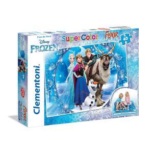 Clementoni - 25447 - Puzzle Puzzle de sol 40 pièces - La Reine des Neiges (Ax1) (313770)