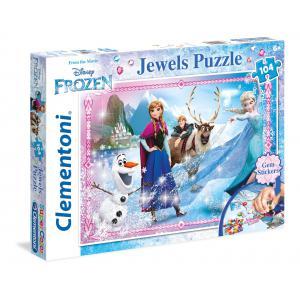 Clementoni - 20133 - Puzzles 104 Pièces Glitter/Jewels/Brillant - La Reine des Neiges (314016)