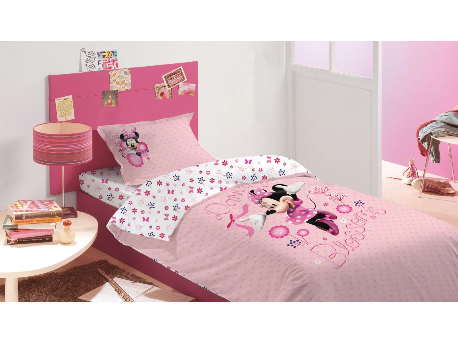 room studio parure housse de couette et 1 taie d 39 oreiller minnie. Black Bedroom Furniture Sets. Home Design Ideas