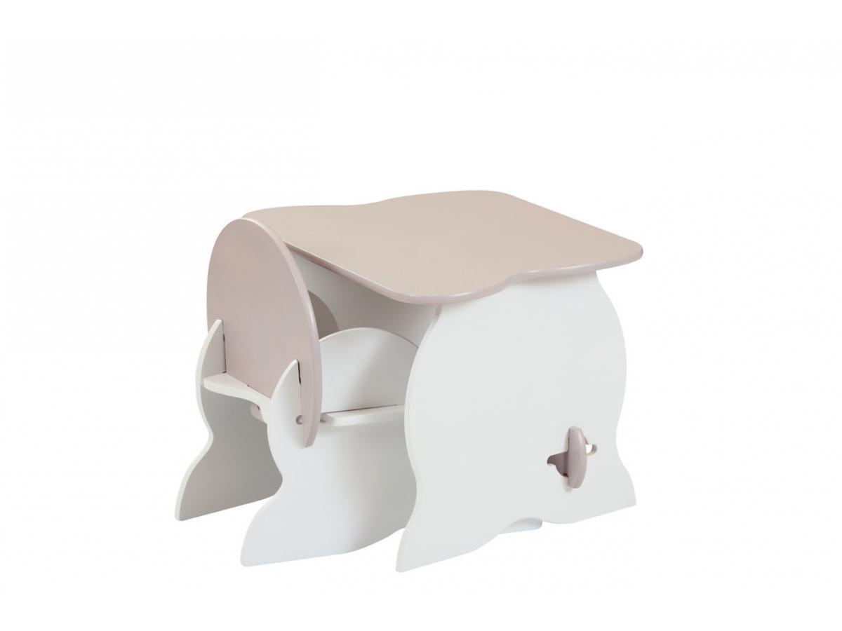 room studio ensemble mon premier fauteuil et bureau blanc taupe. Black Bedroom Furniture Sets. Home Design Ideas