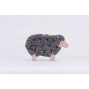 Les Jouets Libres - WOO002 - Jeux créatifs, Woody : laine grise - grey wool (315240)
