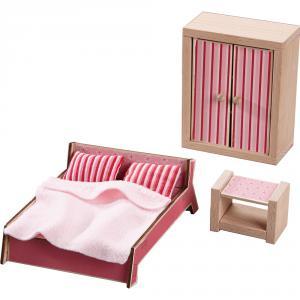 Haba - 301988 - Little Friends – Meubles pour maison de poupée – Chambre d'adultes (315604)