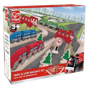 Hape - E3701 - Coffret train avec pont suspendu (318640)