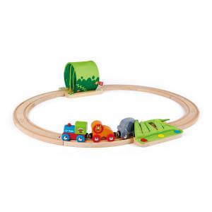 Hape - E3800 - Coffret train voyage dans la Jungle (318666)