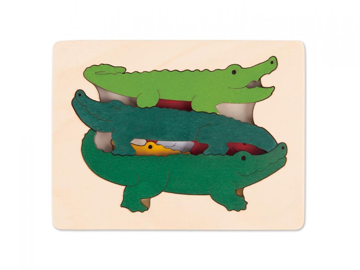 hape puzzle george luck crocodiles. Black Bedroom Furniture Sets. Home Design Ideas
