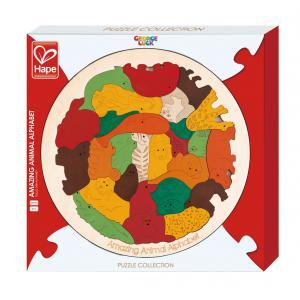 Hape - E6524 - Puzzle George Luck alphabet anglais des animaux (318748)