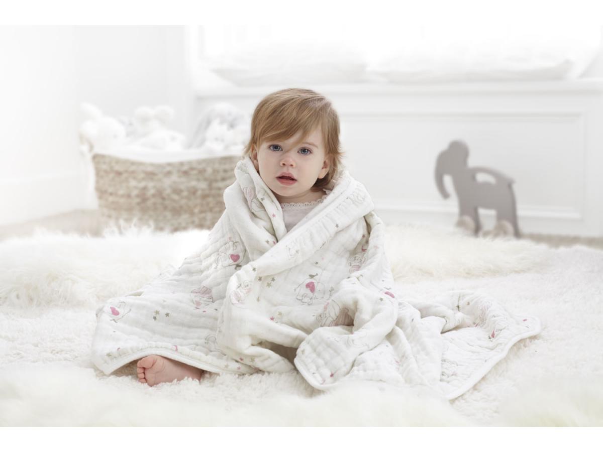 aden and anais couverture de reve lovely l phants roses 120x120cm. Black Bedroom Furniture Sets. Home Design Ideas