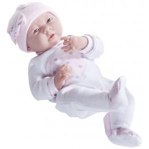 Berenguer / JC Toys - 18055 - Poupon Newborn nouveau né sexué fille pyjama manches longues rose 38 cm (320724)