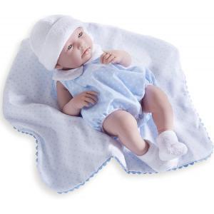 Berenguer / JC Toys - 18108 - Poupon Newborn nouveau né sexué garçon barboteuse bleue avec couverture 43 cm (320728)