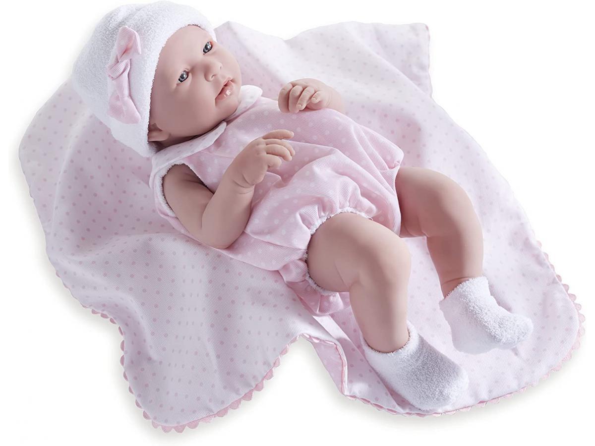 berenguer poupon newborn nouveau n sexu fille barboteuse rose avec couverture 43 cm. Black Bedroom Furniture Sets. Home Design Ideas