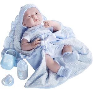 Berenguer / JC Toys - 18787 - Poupon Newborn nouveau né avec accesoires bleus 39 cm (320738)