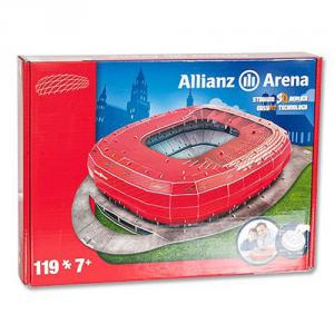 Megableu editions - 49001 - Puzzle 3D Allianz Arena Bayern Munchen Red Packing (321148)