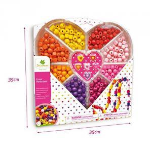 Au Sycomore - CRE3210 - Boîte cœur perles bois (321242)