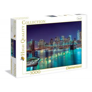 Clementoni - 33544 - Puzzle New York in the night 3000 pièces (321434)