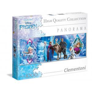 Clementoni - 39349 - Puzzle Panorama La Reine des Neiges 1000 pièces (321486)