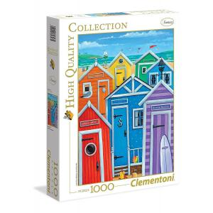 Clementoni - 39327 - Puzzles 1000 Pièces - Rainbow beach huts (321518)
