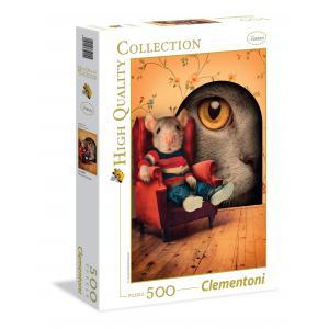 Clementoni - 35015 - Puzzles 500 Pièces - Trough the keyhole (321542)