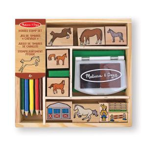 Melissa and doug - 12410 - Set de tampons chevaux (322118)