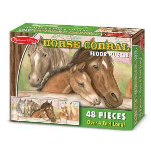 Melissa and doug - 14414 - Puzzle de sol chevaux et poulains 48 pièces (322240)