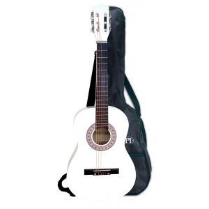 Bontempi - GSW92.3/BL - Guitare en bois  92 cm blanche + bandoulière housse et stickers. (325184)